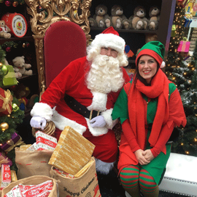 Santa at his Grotto in Carlisle